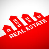 Casas de las propiedades inmobiliarias?, planos para la venta o para el alquiler Ilustración común Fotografía de archivo