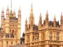 Casas de Londons do parlamento Fotografia de Stock