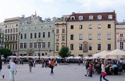 Casas de los Burghers, Kraków foto de archivo libre de regalías