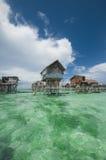Casas de los gysies del mar en los zancos Imagen de archivo libre de regalías
