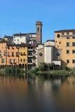 Casas de Lungarno, Florença, Toscânia, Itália Fotos de Stock Royalty Free