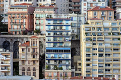 Casas de Mónaco fotos de archivo libres de regalías