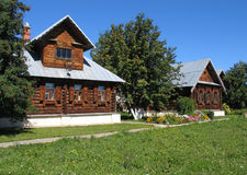 Casas de madeira. Imagens de Stock Royalty Free