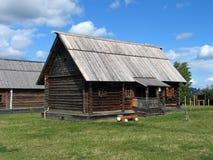 Casas de madeira. Imagens de Stock
