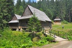 Casas de madeira Foto de Stock