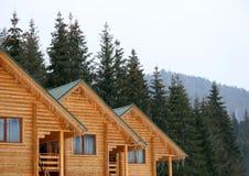 Casas de madeira Imagem de Stock