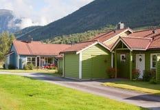 Casas de madeira coloridas Imagens de Stock
