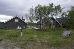 Casas de madeira em Finlandia Fotografia de Stock Royalty Free