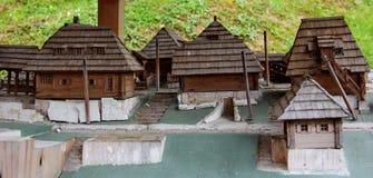Casas de madeira na costa, língua de terra, Florida, E foto de stock
