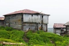 Casas de madera en montaña Fotografía de archivo libre de regalías