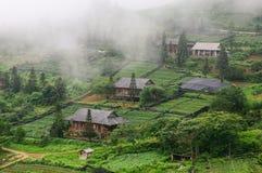 Casas de madera en Sapa, Vietnam fotos de archivo libres de regalías