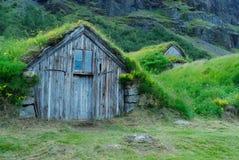 Casas de Nupstadur, Islandia Fotos de archivo libres de regalías