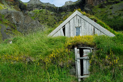 Casas de Nupstadur, Islandia Fotos de archivo
