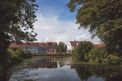 Casas de Nyborg Fotografía de archivo