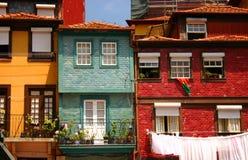 Casas de Oporto Foto de archivo