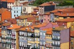 Casas de Oporto en Portugal Imagen de archivo libre de regalías