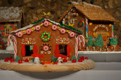 Casas de pan de jengibre Fotografía de archivo