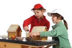 Casas de pan de jengibre junto Foto de archivo libre de regalías