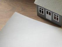 Casas de papel imagem de stock