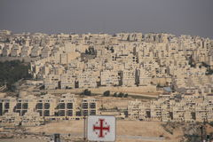 Casas de pedra brancas de Palestina Fotos de Stock