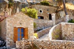 Casas de pedra na Creta Imagem de Stock
