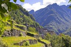 Casas de pedra, Rustico, Ticino foto de stock royalty free