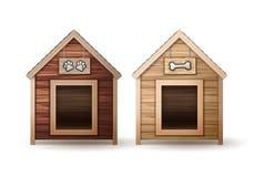 Casas de perro de madera stock de ilustración