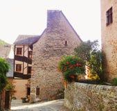 Casas de Picturesques, Conques - Francia Imagen de archivo libre de regalías