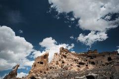 Casas de piedra antiguas de Cappadocia Foto de archivo libre de regalías