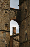 Casas de piedra del vintage en Toscana, Italia Imagen de archivo libre de regalías
