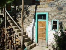 Casas de piedra en los pueblos de Turquía fotos de archivo
