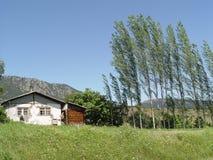 Casas de piedra en los pueblos de Turquía imagenes de archivo