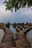 Casas de planta baja agradables de la pesca Fotografía de archivo