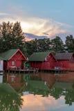 Casas de planta baja coloridas de la pesca Imagen de archivo