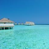 Casas de planta baja de Maldives Imagenes de archivo