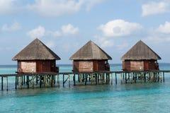 Casas de planta baja del agua Fotos de archivo libres de regalías