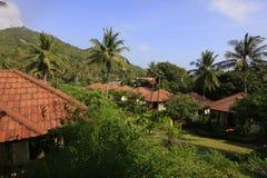 Casas de planta baja en centro turístico Imagen de archivo libre de regalías
