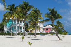 Casas de playa foto de archivo