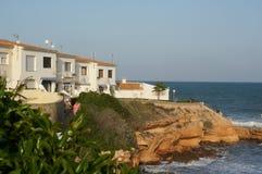Casas de playa blancas imagenes de archivo