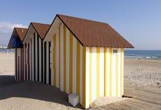 Casas de playa coloridas Imagen de archivo