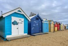Casas de playa de Brighton Foto de archivo libre de regalías