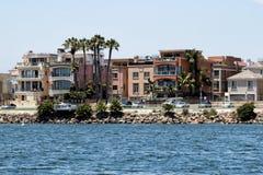 Casas de playa de California Imagenes de archivo