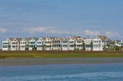 Casas de playa de Carolina del Norte ICW Fotos de archivo libres de regalías