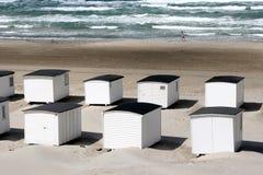Casas de playa de Loekken Imagen de archivo libre de regalías