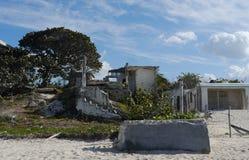 Casas de playa en el chelem México fotografía de archivo libre de regalías