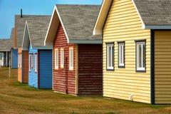 Casas de playa en la isla de Magdalen Imagen de archivo libre de regalías