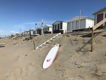 Casas de playa Zandvoort fotos de archivo libres de regalías