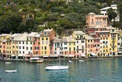 Casas de Portofino Foto de archivo libre de regalías