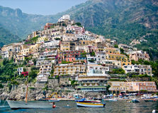 Casas de Positano imagem de stock royalty free
