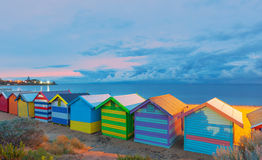 Casas de praia Austrália de Brigghton Fotografia de Stock Royalty Free